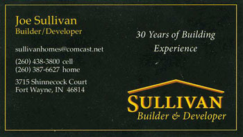 Sullivan New Homes at the Hamlets of Woodland Ridge West in Fort Wayne, Indiana